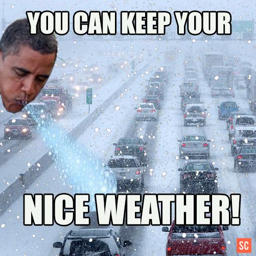 Snowbama Internet Meme