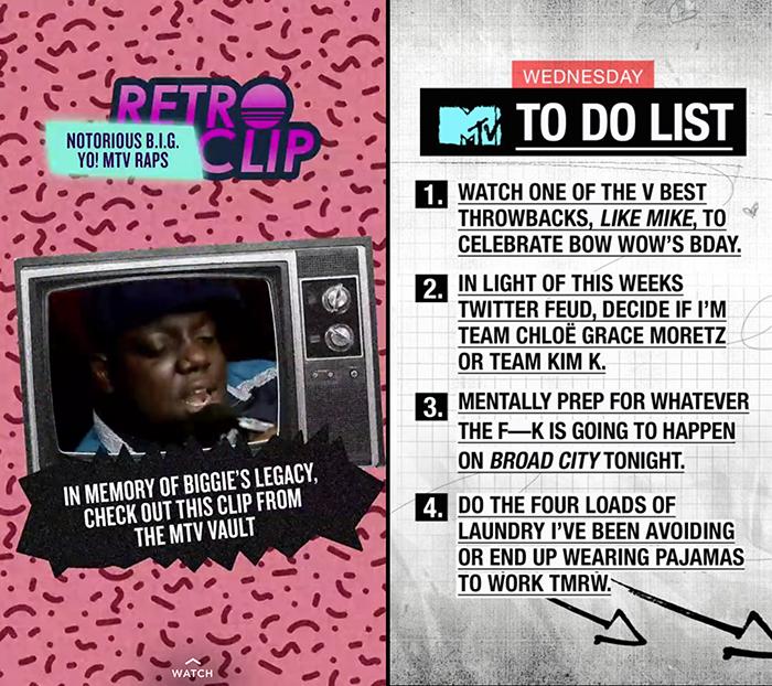 Snapchat Discover MTV